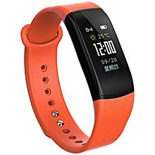KALOAD B11 Smart Sports Bracelet Heart Rate Blood Pressure Monitor Waterproof Wrist Band#orange