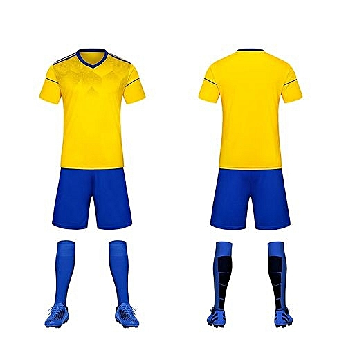 9e316fd9 Longo Customized Fashion World Cup Kids Boy And Men's Football Soccer Team  Training Sports Jersey Set-Yellow