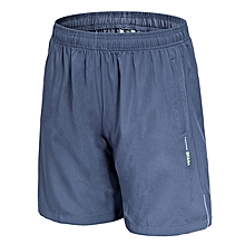 Mens Quick Drying Knee-Length Pants Loose Breathable Sports Jogger Reflective Stripe Shorts