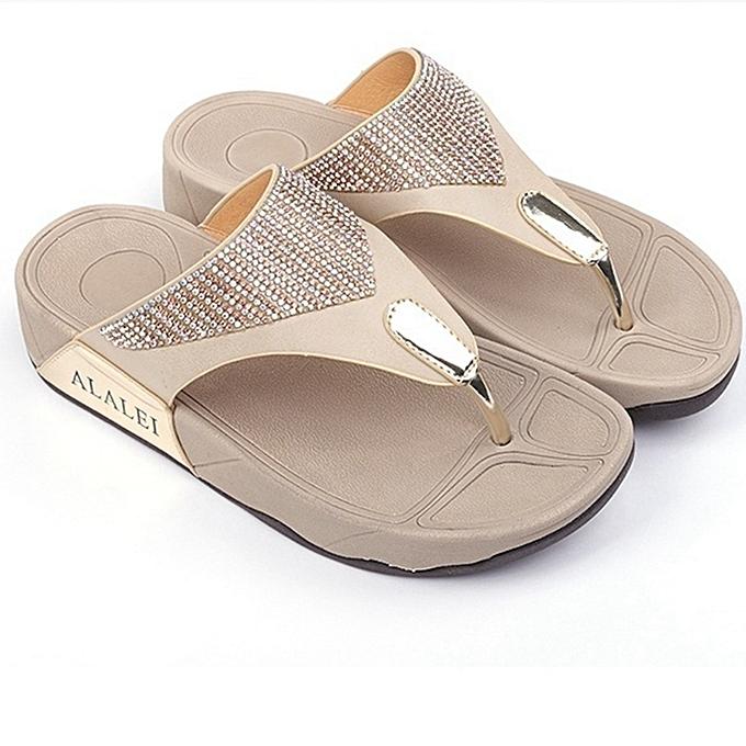 d7908297d Summer New Sandals Womens Shoes National Bohemian Wedge Sandals Plus Size Flip  Flops Beach Sandals Platfrom