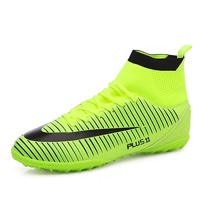 Men s High Ankle Turf Indoor Futsal Shoes Soccer Cleats Outdoor Football Shoes  Boots 1e3f75455c