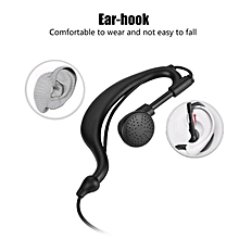 Headset for Two-way Radio 2Pin Earpiece PTT Walkie Talkie Headset Ear-hook for Two-way Radio