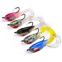 Soft Baits Fishing Bait Portable Rubber Random Color Lure Frog Fishing Lure Decoy Fishing Boat