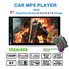 """K9B 7"""" HD Bluetooth Car MP5 MP3 Player RDS FM Radio Quick Charge Support TF USB"""