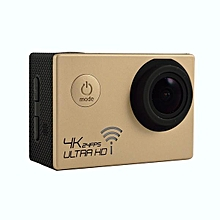 "SJ8000 Waterproof 4K Ultra HD 1080P WiFi Sports Action Camera 2"" DVR Camcorder Gold"