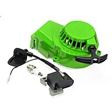 Mini Moto Pull Start Pull Starter Spark Plug Ignition Coil 47cc 49cc Dirt Bike (Green)