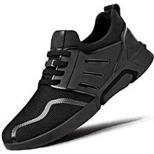 BLACK Men's Casual Shoes Sneakers Flats Gym Trainers