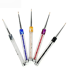 1PC Nail Art Design Set Dotting Painting Drawing Brush Pen Tools
