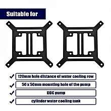 High quality Steel Metal External Bracket for 120mm Computer Cooler Water Cooling Pump Row Arch Type
