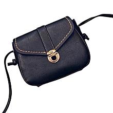 bluerdream-Women Retro Plug Lock Leather Handbag Cross Body Single Shoulder Phone Bag -Green