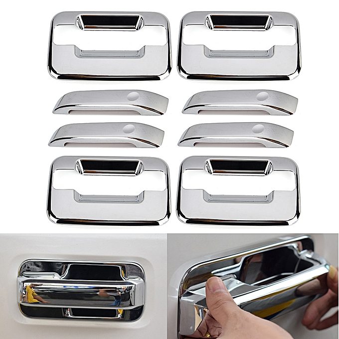 1 Set Of Car Door Handle Cover For Ford Raptor F150 ABS Easy Installation