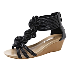 Generic Fashion Women Sandals Summer Shoes Flower Wedges Girl Roman Sandals A1