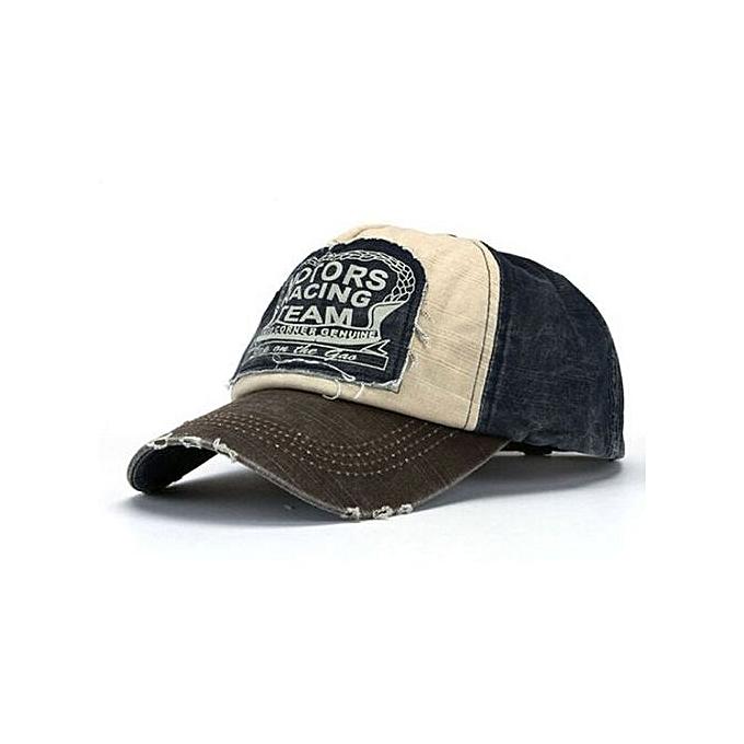 New Unisex Baseball Cap Cotton Motorcycle Cap Edge Grinding Do Old Hat CO+N BU
