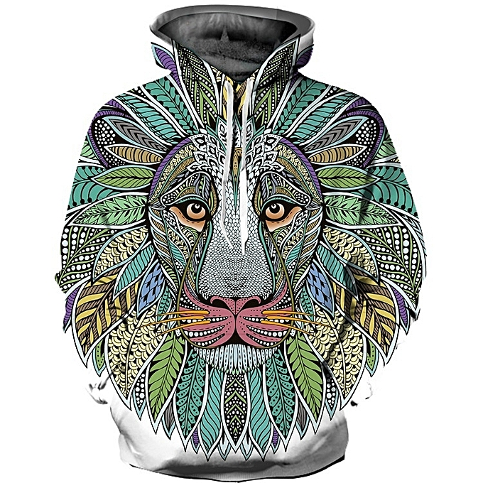 c26d1593 3D Beautiful Lion Hoodie for Men and Women
