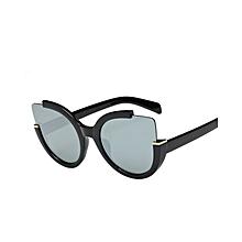 Women Men Vintage Retro Glasses Unisex Fashion Aviator Mirror Lens Sunglasses - Black