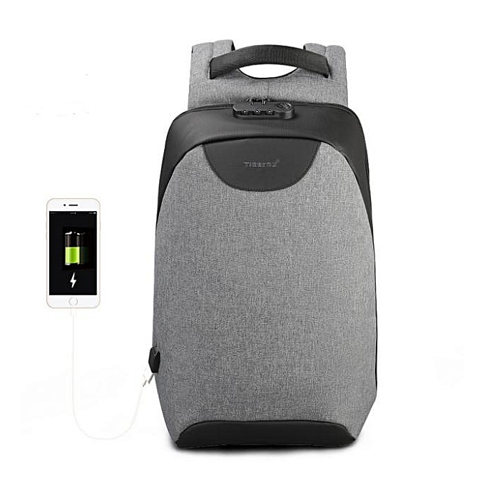 e7fe278ab9 New Men 15 15.6 inch Anti theft Laptop Backpacks Multifunction Waterproof  USB Backpack For Man grey