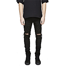Men's Denim Slim Stretch Jeans - Black