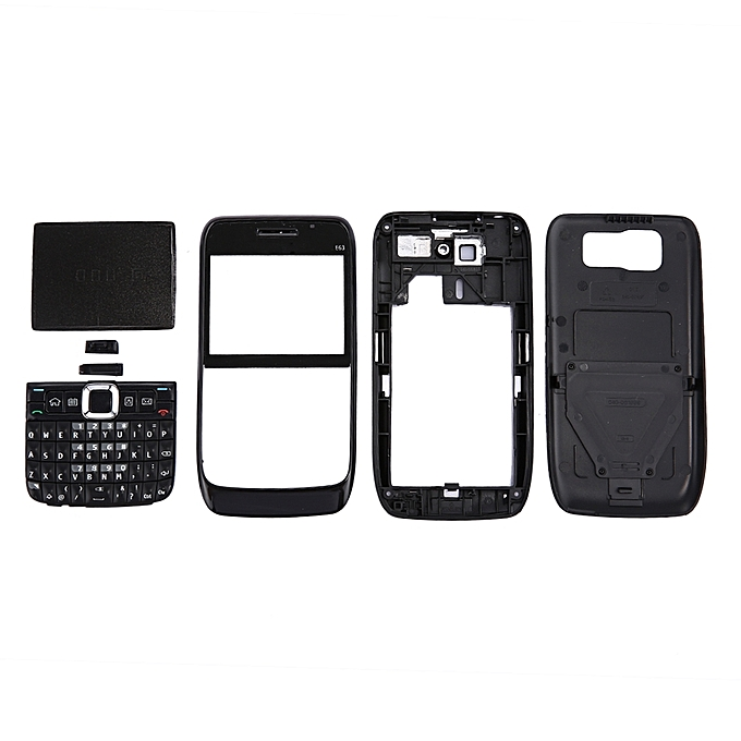 cheap for discount 2b1c9 87b8b Full Housing Cover (Front Cover + Middle Frame Bezel + Battery Back Cover +  Keyboard) For Nokia E63 (Black)