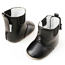bluerdream-Baby Girl Boy Soft Booties Snow Boots Infant Toddler Newborn Warming Shoes-Black