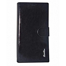 Leather Flip Cover for Galaxy S6 - Black