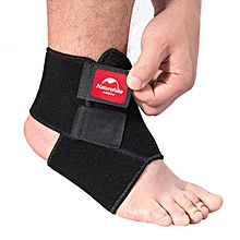 Naturehike Sports Ankle Brace Adjustable Sprain Wrap Support Protector For Football Running - Black XL