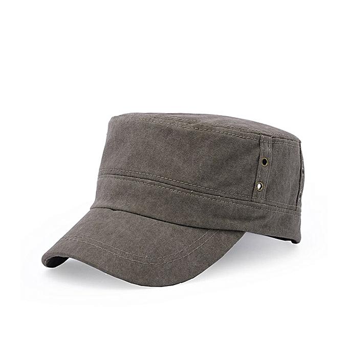 8ef3fe2b1f4 Unisex Men Women Cotton Blend Military Army Baseball Cap Flat Buckle  Adjustable Snapback Hat