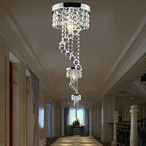 Modern LED Galaxy Spiral Crystal Chandelier Lamp Fixture Lighting Pendant Decor # 220V