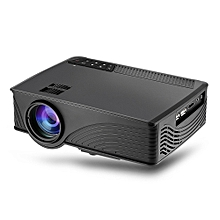 GP - 12 LED Projector 800 X 480 Pixels 2000 Lumens Support 1080P For Home Cinema - Black A888A