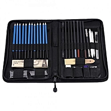40PCS Professional Sketching Drawing Pencils Kit Set Art Supplies Students Painting Tool