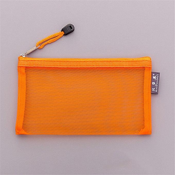 89558c1ba64c Casual Travel Cosmetic Bag Women Zipper Make Up Transparent Makeup Case  Organizer Storage Pouch Toiletry Beauty Wash Kit Bags(orange)
