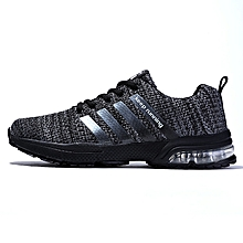 Summer Men's Sneakers 2018 Men Running Shoes Trending Style Sports Shoes Breathable Trainers Sneakers - Black
