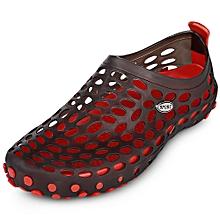 Trendy Unisex Hole Slippers Garden Beach Clogs Rain Outdoor Sandals Shoes-GRAY
