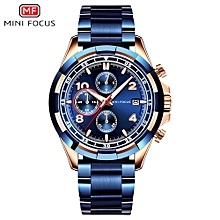 MF0198G Men Watch Stainless Steel Strap Quartz Movement Simple Wristwatch Time Display Casual Waterproof Clock for Male