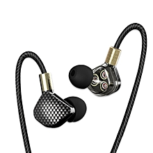QKZ KD6 In Ear 6 Dynamic Driver Unit Stereo Sports HIFI Subwoofer Earphone With Microphone