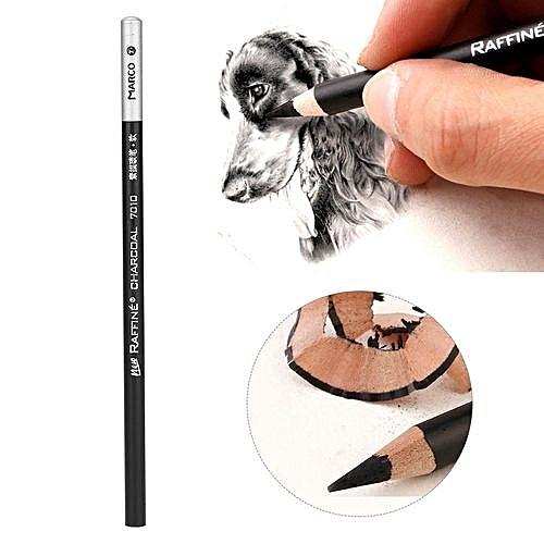 Generic 12pcs/Lot Charcoal Pencil Set Professional Art Drawing Sketching Pencils School Stationery