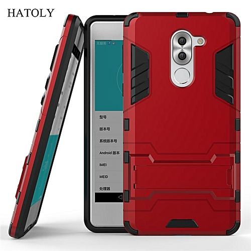 release date: 06b6f f8131 For Huawei Honor 6X Case Shockproof Robot Armor Case Hybrid Silicone Rubber  Hard Back Phone Cover For Huawei honor 6x with Stand