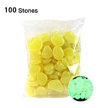 Glow in the Dark Garden Pebbles Glow Stones Rocks for Walkways Garden Path yellow
