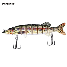 Artificial 9 Sections Big Pike Fishing Lure With Sharp Hooks - Colormix