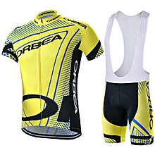 outdoor sport Men's Short Sleeve cycling bike set Breathable bicycle Jersey clothing Strap shorts set