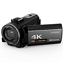 Andoer  4K Digital Video Camera Camcorder Ultra HD 48MP WiFi  3.0 Inch Touch Screen IR Infrared Night-shot 16X Digital Zoom with 1pc 2500mAh Rechargeable Camera Battery