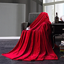 Honana Flannel Blankets Warm Plush Blanket Super Soft Blanket on the Bed Home Plane Travel 100cm x 150cm