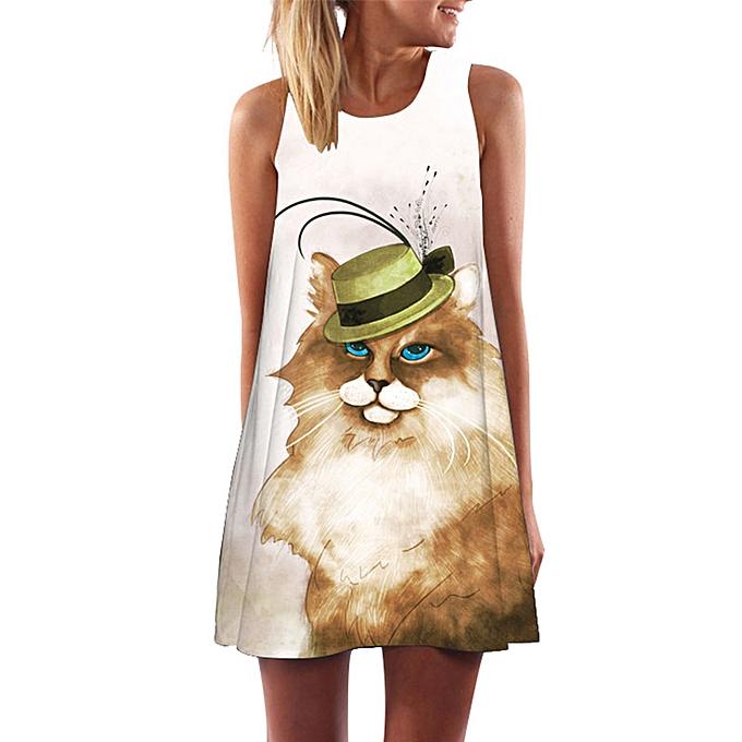b6e85d4dfe5 New Women Dress Digital Print Boho Style Dashiki Hippie Dress Summer Beach  Plus Size Sundress