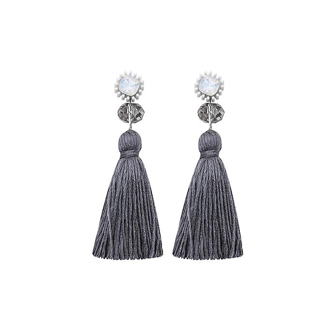 cdddf2a34cff44 Fashion Womens Bohemian Long Tassel Rhinestone Dangle Drop Earrings ...