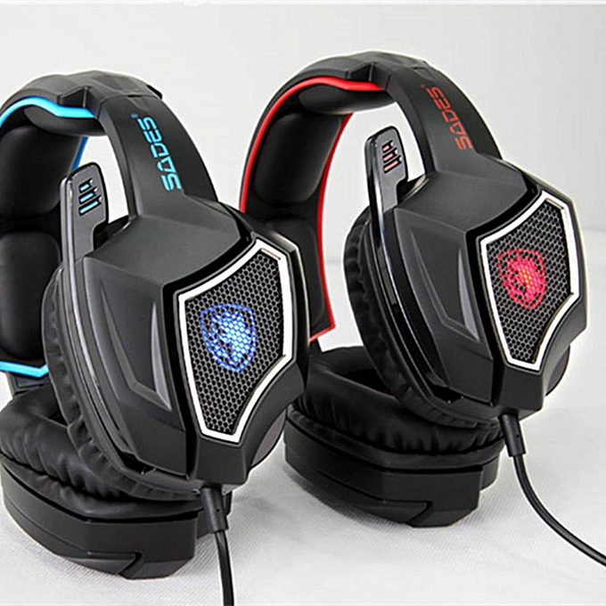 53e7a7ae320 ... SADES Spirit Wolf 7.1 Surround Stereo Sound USB Computer Gaming Headset  with Microphone Over-the