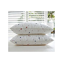 Set of 2 Bed Pillow (Pair- Pure fibre filled) .