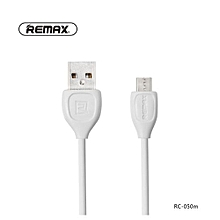 USB Charger And Data Cable-1 Meter- Micro USB (White)