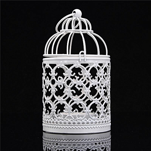 Generic Unique Hollow Flower Bird Cage Candle Holder Tealight