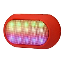 Wireless colour LED Bluetooth Speaker Super Bass Stereo For iPhone Tablet -Red