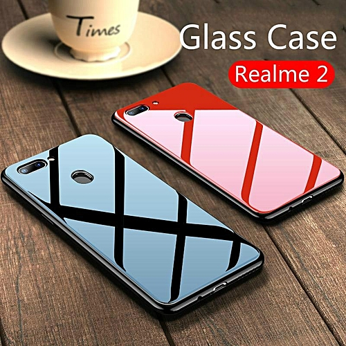 official photos eb204 0d853 Glass Case For Realme 2 Cover Full Protection Tempered Glass Back Cover  Casing For OPPO Realme 2 Housing