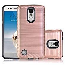 Guoaivo Case Back Hybrid Cover For LG Aristo LV3 V3 MS210 LG M210 LG MS210 LG K8 RG -Rose Gold